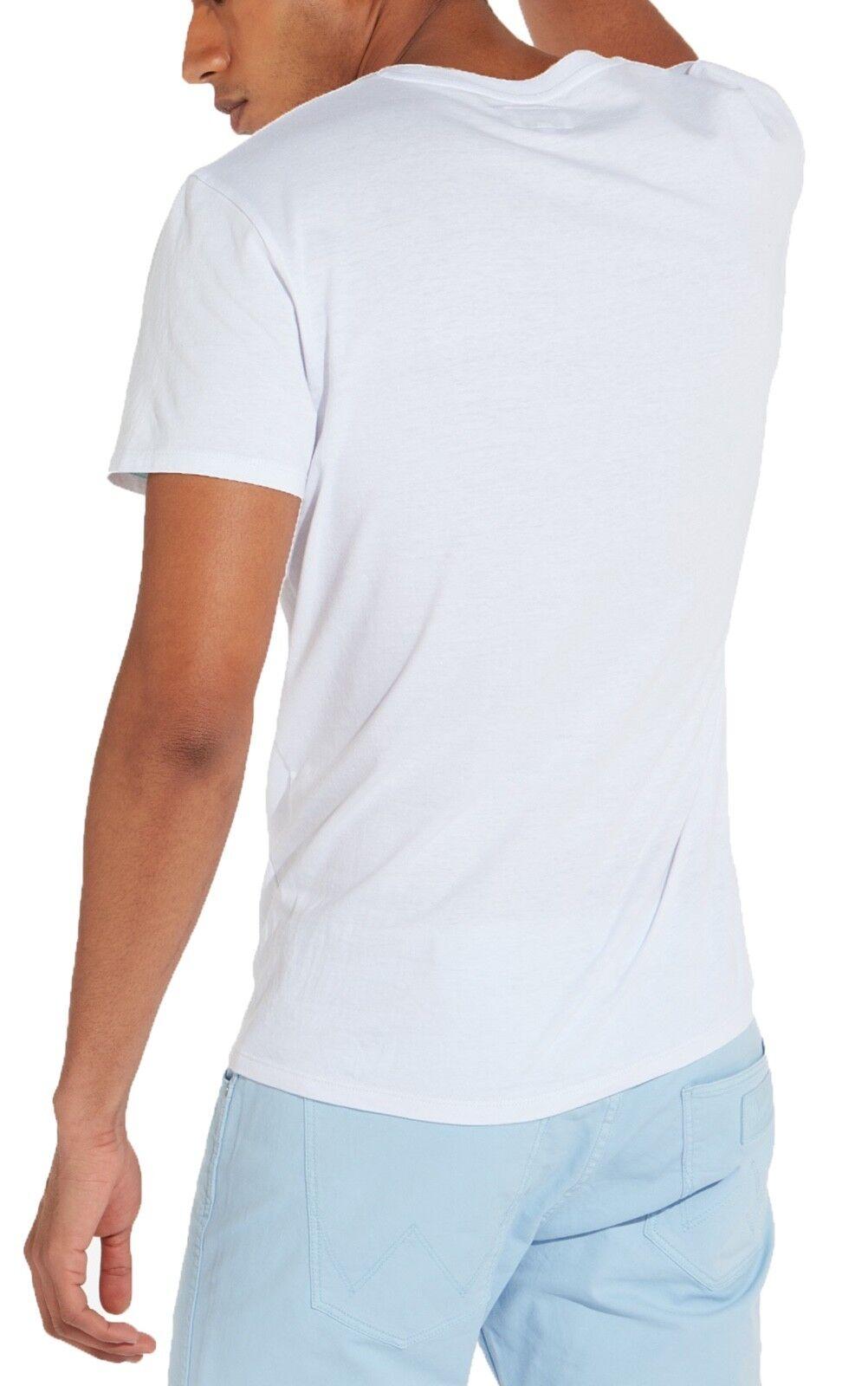 Wrangler Nuovo Retrò W Logo T-Shirt Girocollo Stampa Stampa Stampa Maglietta Cotone Bianco e08a7b