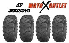 "Set of 4 Sedona Mud Rebel 25"" ATV Tires 25x8-12 Front 25x11-10 Rear 6 Ply"