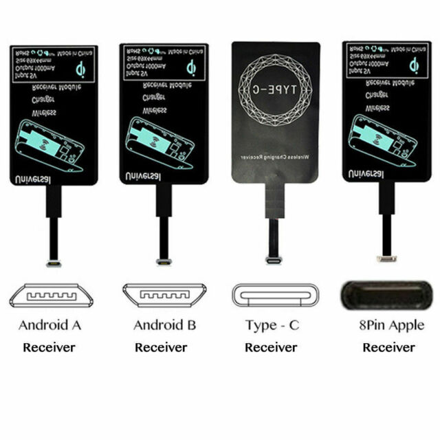 QI Wireless Charger Receiver Charging Adapter Pad For IOSType CAndroid Phone