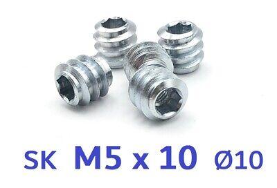 5 Stück RAMPA SK Einschraubmutter M6x25 Ø12 Einschraubmuffe Eindrehmutter