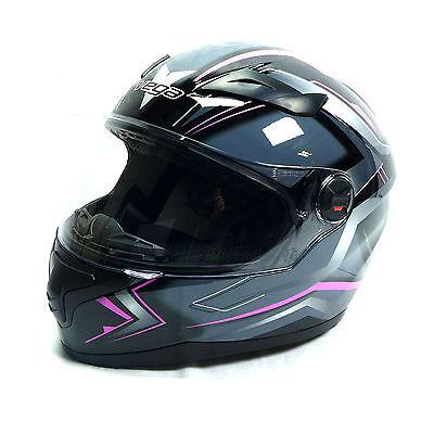 Vega At2 Pink Flash Full Face Motorcycle Helmet Mens Womens Boys Girls Ebay