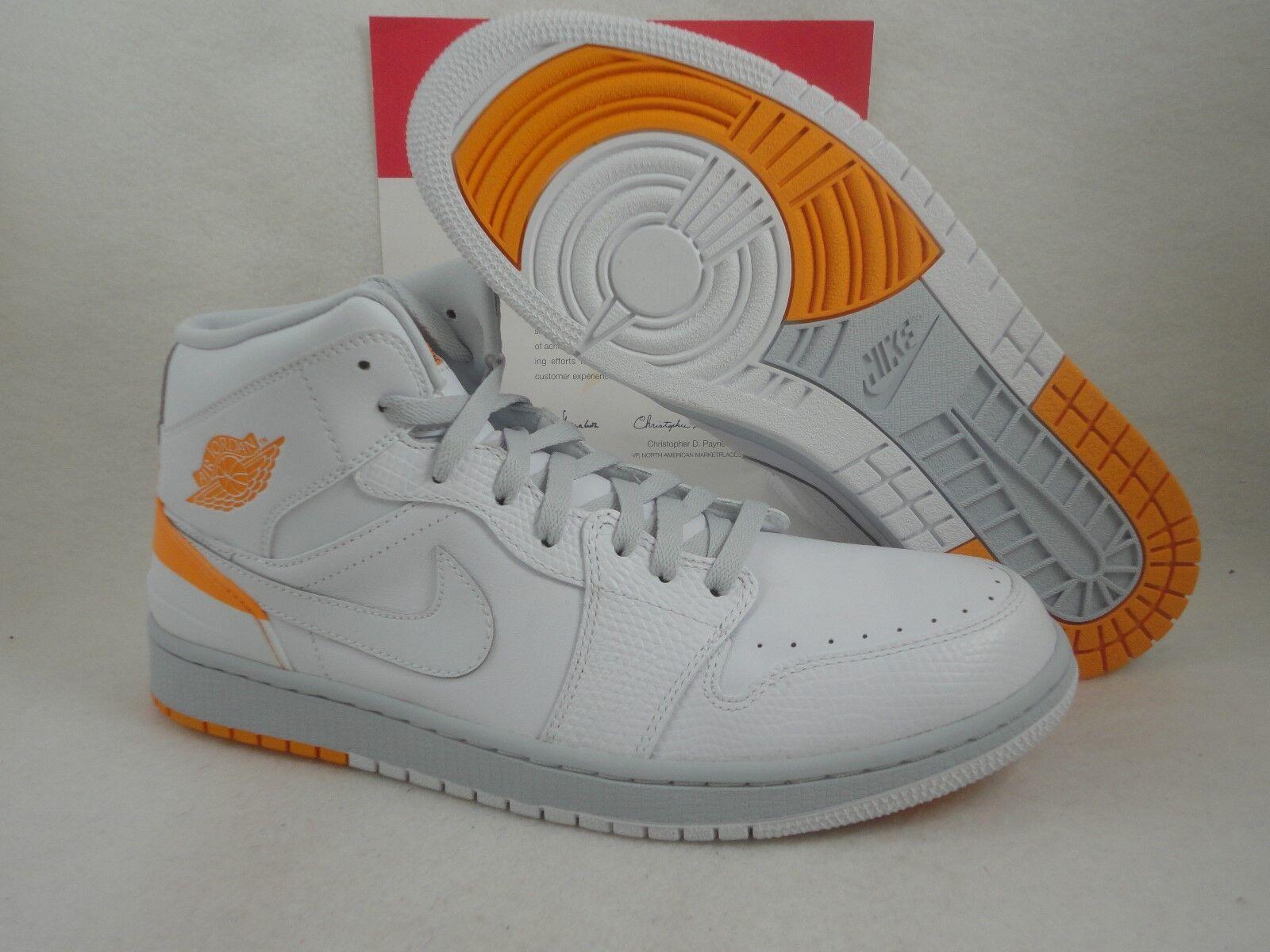 Nike Air blanco Jordan 1 retro 86, blanco Air / kumquat, 644490 115, tamaño 11,5 17b298