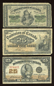 Complete-Set-of-Canadian-Shinplaster-Dominion-of-Canada-Twenty-Five-Cents-Notes