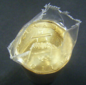 2010-Canada-Olympic-Lucky-Loonie-Roll-25-coins-1-coin-One-Dollar-Canadian