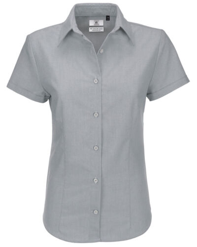 B/&C Ladies Oxford Short Sleeve Corporate Shirt-SWO04