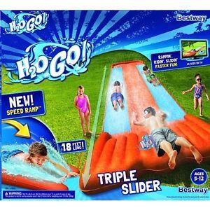 Water Slide inflatable kids outdoor racer backyard splash bestway