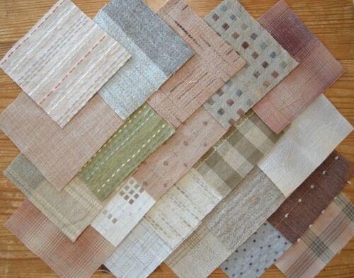 lot de 20 coupons de tissu patchwork japonais tissés