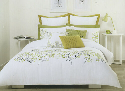 POSIE Green White Quilt // Duvet // Doona Cover Set King Choose Double Cushion