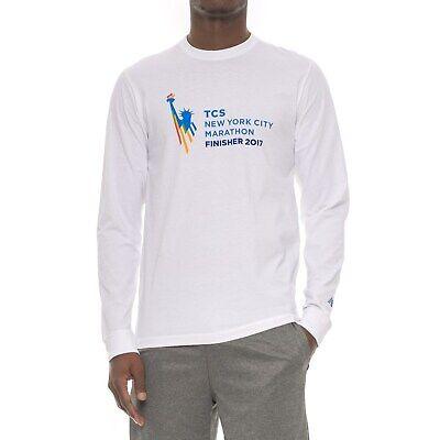 f084b3e6af1bb Details about New Balance Men's Long Sleeve TCS NY Marathon T Shirt - S, M,  L - White - NWT