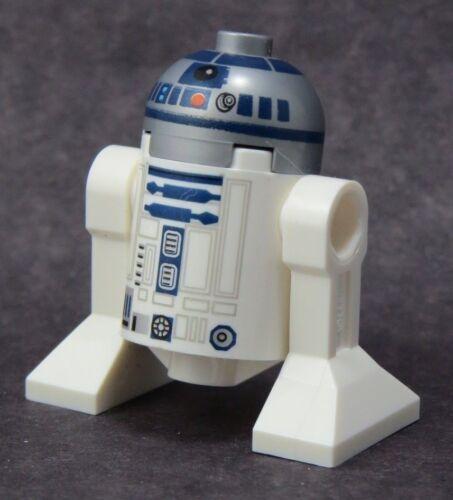LEGO  Star Wars R2-D2 Flat Silver Head Red Dot sw527 Minifigure