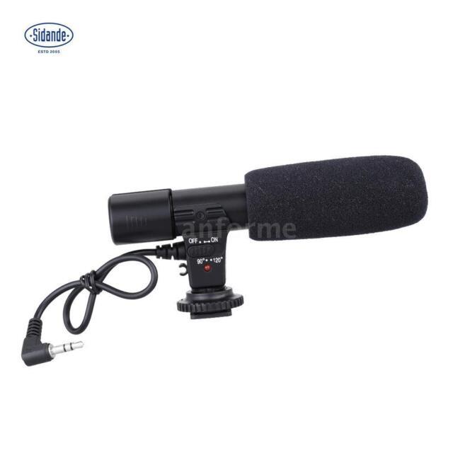 Sidande Digital Camera Studio Stereo Camcorder Recording Mic for Canon SLR O7LL