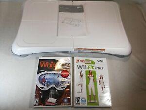 Nintendo Wii Fit Balance Board Bundle w/ Wii Fit Plus & Shawn White snowboarding