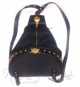 Caricamento dell immagine in corso Vintage-Gianni-Versace-Gold-Sun-Logo- Backpack-Shoulder- 91a73bda05bc6