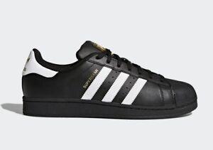 Details about Adidas Originals Men's SUPERSTAR FOUNDATION Shoes Black/Cloud  White B27140 c