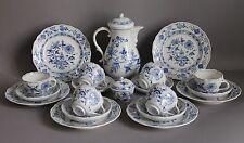 20 pc Meissen Crossed Swords Blue Onion Pattern Coffee Service Set for 6