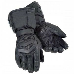 New-Motorcycle-Premium-Leather-Soft-Knuckle-Protection-Waterproof-Bikers-Gloves