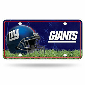 hot sales e82dd ca05f Details about Rico Industries New York Giants NFL Metal License Plate Tag