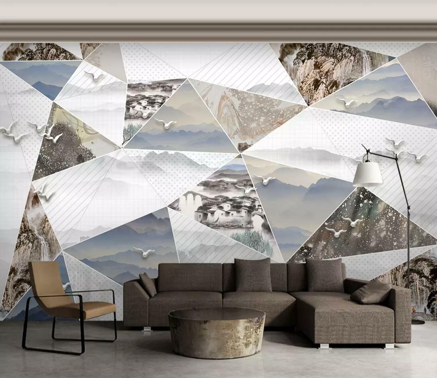 3D Mountain Nature 73 Wall Paper Exclusive MXY Wallpaper Mural Decal Indoor Wall