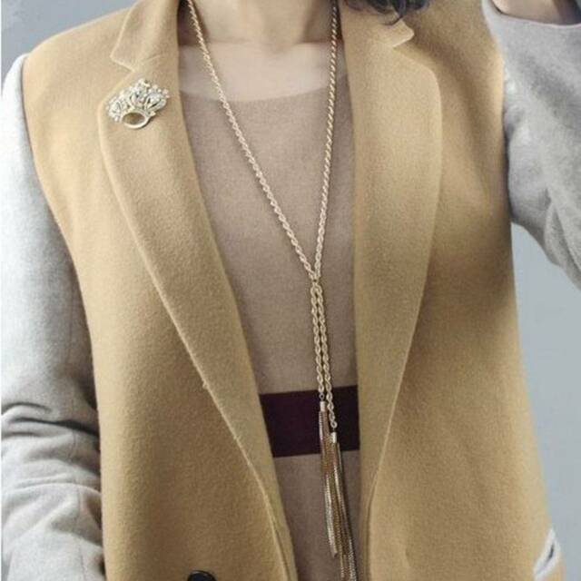 Europe Style Charms Gold Plated Tassel Long Sweater Chain Necklace Jewelry