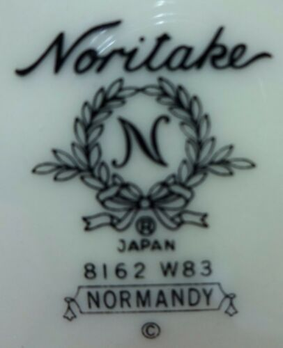 """NORITAKE china NORMANDY pattern 8162//W83 Two Cup /& Saucer Sets 3-1//8/"""" 2"""