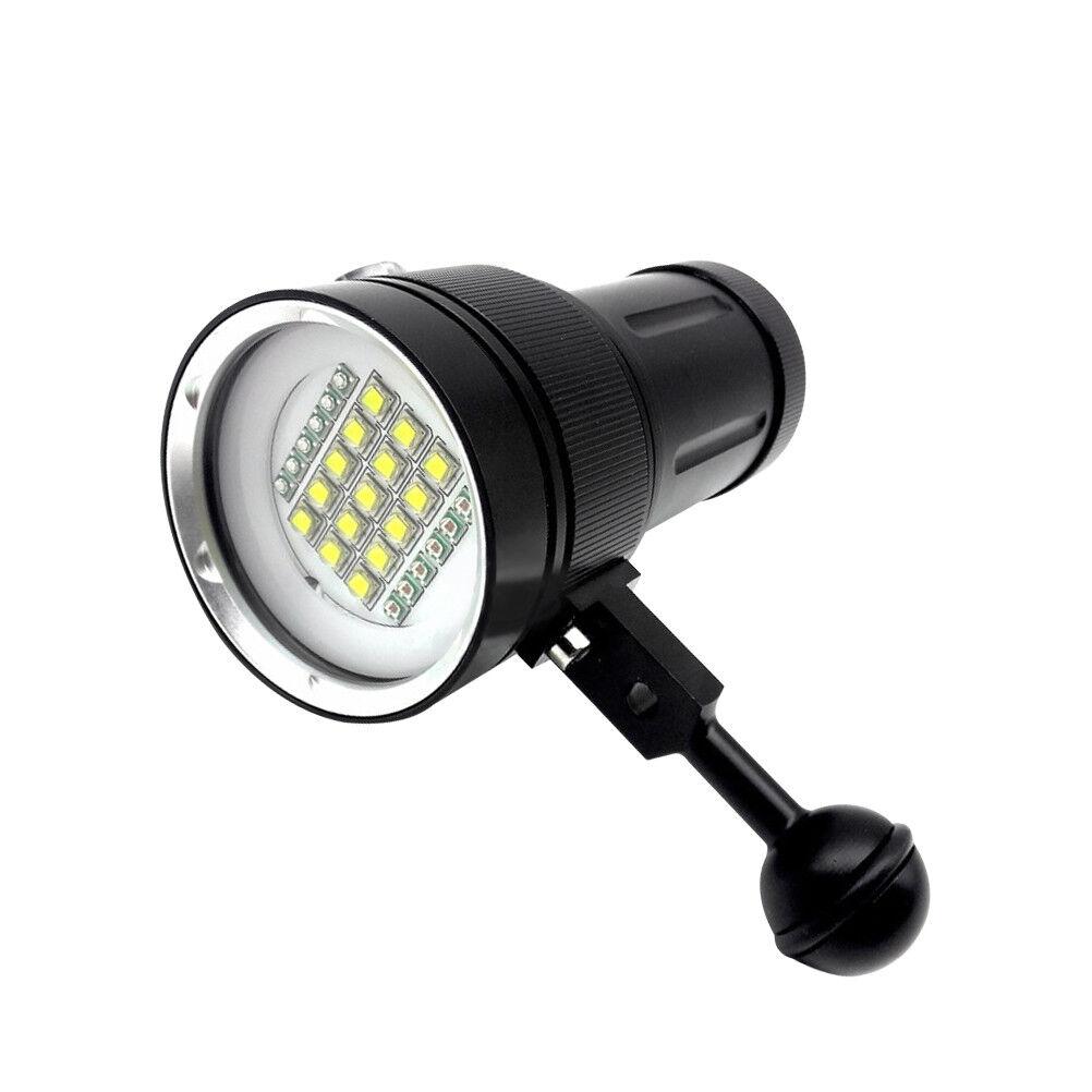 Diving Light Underwater Photography Video 15 XML2+6 ROT+6 UV LED Photography Underwater FlashlightFT f2fbd3