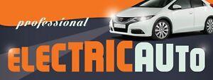 3ft x 8ft Auto Electric Service Vinyl Banner -Alt to Banner Flag 3'x8' (0091)