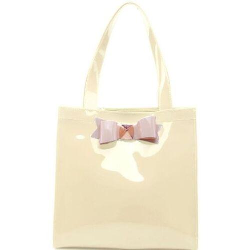 Ladies Bow Beth Shopper PU Bow Bag School Bag College Bag Shoulder Bag Tote Bag