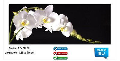 Bello Quadro Moderno In Vetro Temperato Cm 125x50 Stampa Digitale Astratto Design Arte Meno Caro