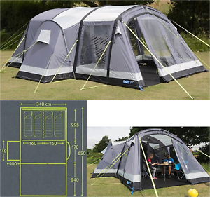 Kampa Bergen 4 AIR Pro 4 man berth person inflatable family tent CT3112