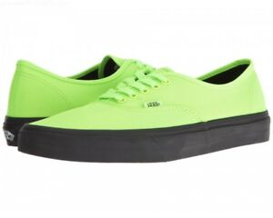 7082e5701a6da9 Image is loading Vans-Authentic-Black-Outsole-Neon-Green-VN0A348ALVX-Unisex-