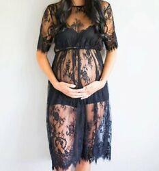 Sexy Umstandsmode Umstandskleid Kleid Schwangerschaft NEU schwarz für Foto`s