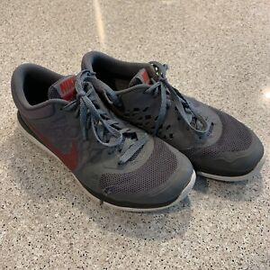 Regularidad Recuerdo secuestrar  Nike Flex Run 709022-002 Athletic Running Gray Maroon Lace Up Mens 8 Shoes  B5 | eBay