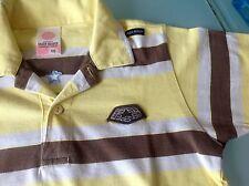 EAGER BEAVER top Zustand Gr.122 bis 128 T-Shirt gelb braun weiß Posloshirt Polo