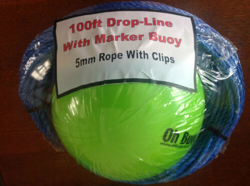 100ft Drop Line 4mm with Marker Buoy