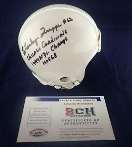 Charley-Trippi-Signed-Autograph-Mini-Cardinals-Helmet-W-3-Inscriptions-SCH-2
