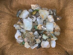 3000-Carat-Lots-of-Unsearched-Blue-Opal-Rough-a-FREE-faceted-Gemstone