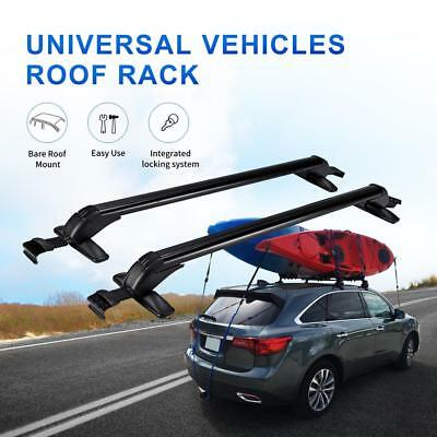 Aluminum Universal Roof Rack Cross Bar W Anti Theft Lock