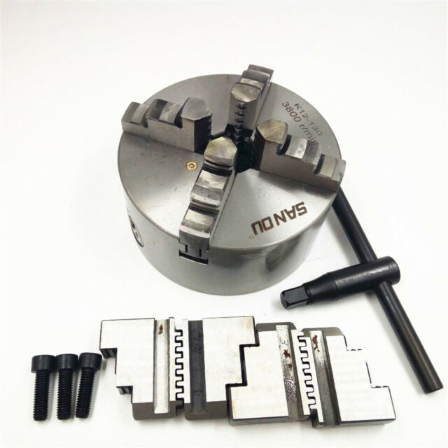 "5/"" 3 Jaw Scroll Lathe Metal Chuck Self-Centering Semi-steel Plain Back 125mm"