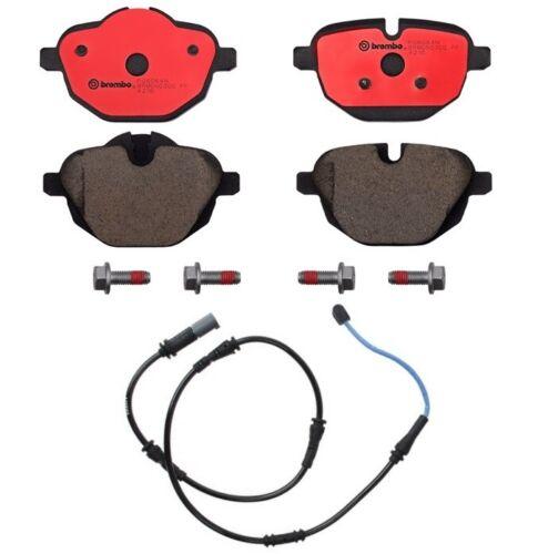 Brembo Rear Ceramic Brake Pads Set /& Sensor for BMW F10 528i 535d 535i xDrive