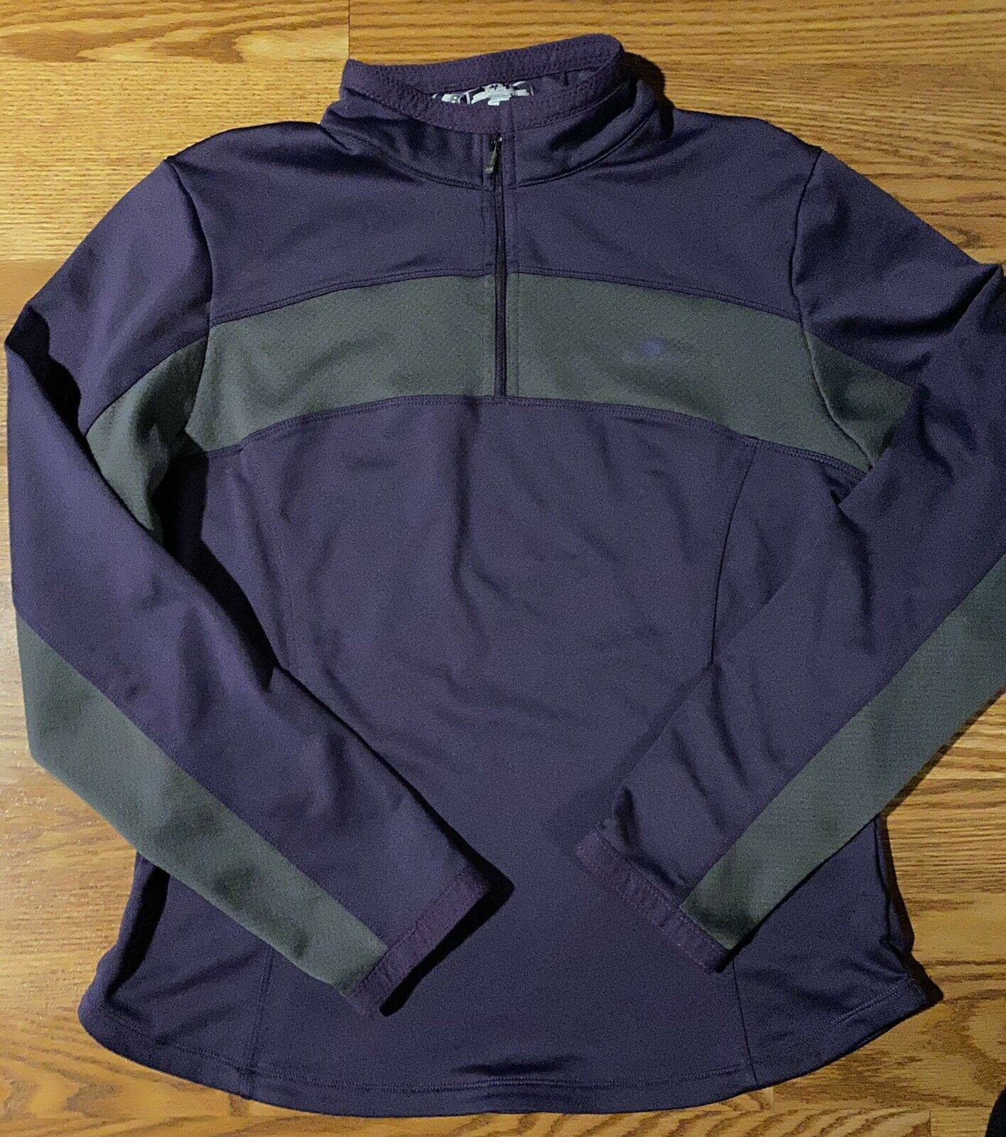 New Balance Collection Women's Purple Gray Long Sleeve 1/4 Zip Sweatshirt Size M