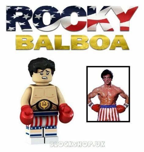 A14 fits lego 80s MOVIE FIGURE BOXING CHAMPION ROCKY BALBOA