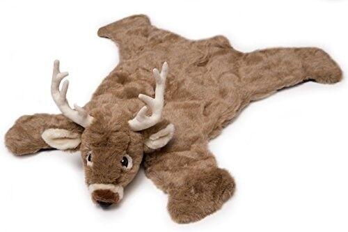 Deer Rug Floor Mat Stuffed Animal Plush Kids Toddler Nursery Decor Rustic Nuovo