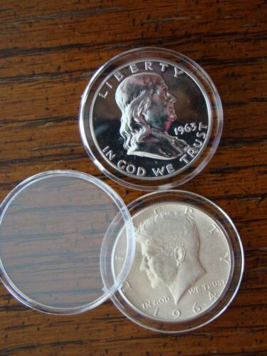 20-T30.6mm AIRTITE//DIRECT FIT COIN HOLDER CAPSULE U.S FRANKLIN  HALF DOLLARS