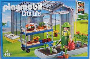 Playmobil-4481-Gewaechshaus-Flora-Shop-Gaertnerei-Beet-Blumen-Rollwagen-NEU-NEW