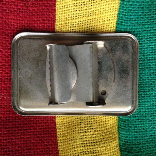 """Cannabis Belt Buckle Rasta Rastafari Selassie Marley Weed Belt Buckle Irie 3.25/"""""""