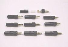 10 Units3.5mm stereo locking Jack Plug for Sennheiser Evolution / Sony Freedom