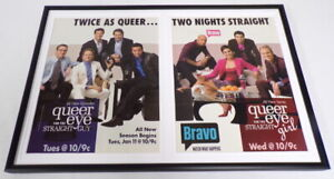 Queer-Eye-For-Straight-Guy-Girl-039-05-Framed-12x18-ORIGINAL-Advertising-Display