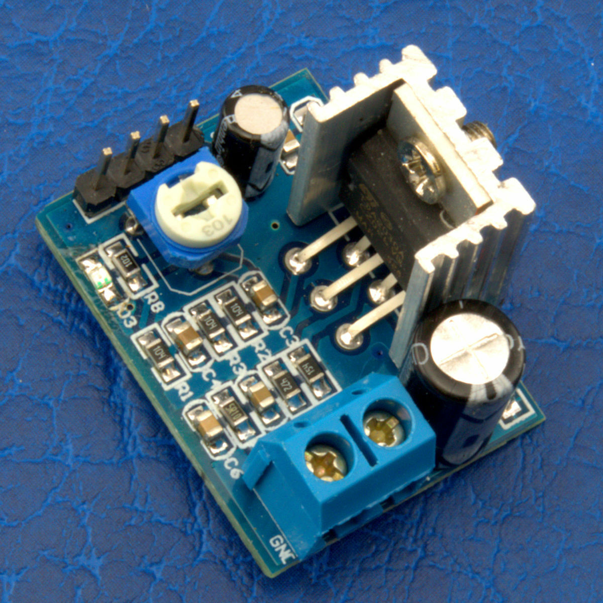 1Stk  6-12V Single Power Supply Audio Amplifier Board Module TDA2030A