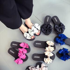 75ab0e07f7e5e9 Image is loading Women-Summer-Beach-Flip-Flops-Sandals-Shoes-Flower-