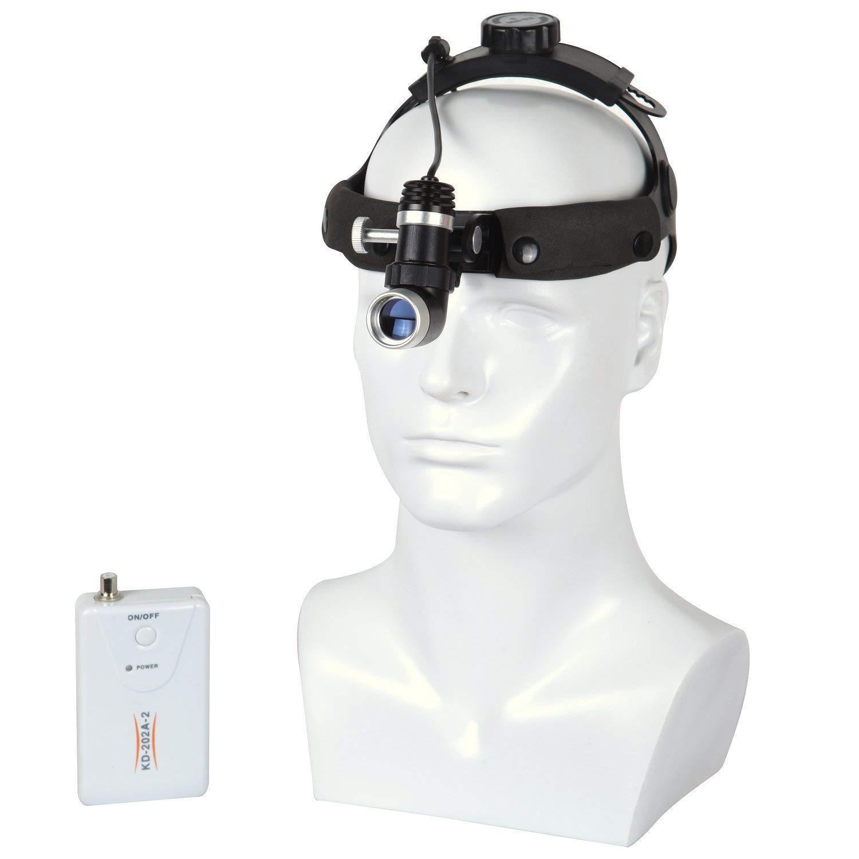 Black Oubo Dental DY-006 Surgical LED Headlight Good Light Spot Headband ENT 5W Specific US Stock